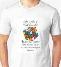 Rubiks Würfel Analogie Unisex T-Shirt