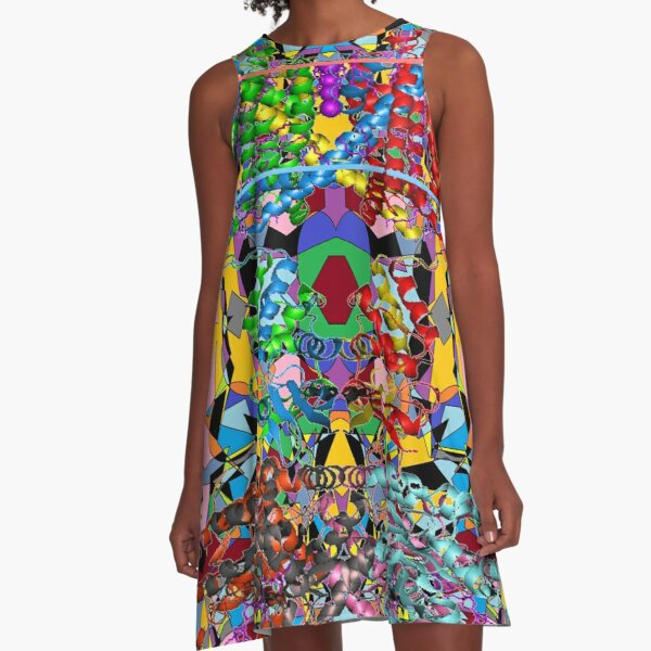 Motley chaotic pattern - Chaos A-Line Dress