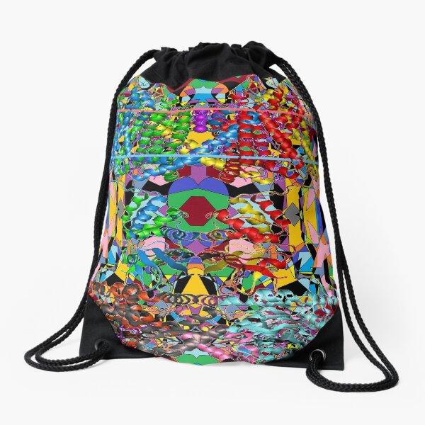Motley chaotic pattern - Chaos Drawstring Bag