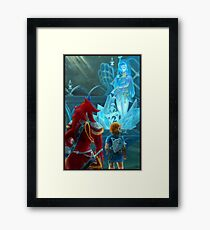 Mipha's Statue Framed Art Print