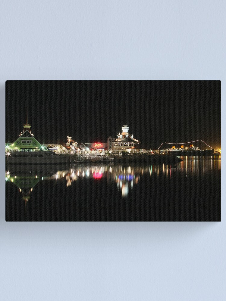 Alternate view of Night view on Long Beach Canvas Print