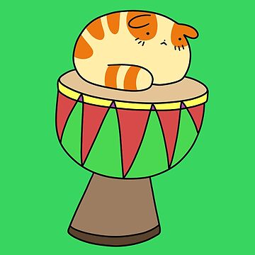 Djembe Tabby Cat by SaradaBoru