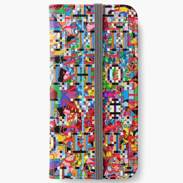 Motley chaotic pattern, Chaos, Motley, chaotic, pattern  iPhone Wallet