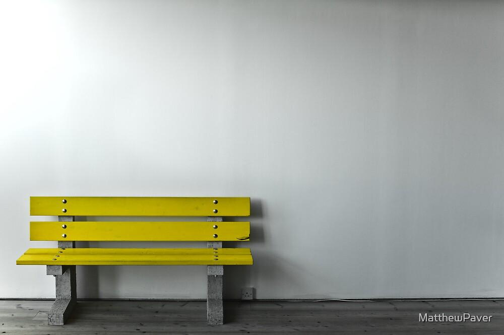 Yellow Bench by MatthewPaver