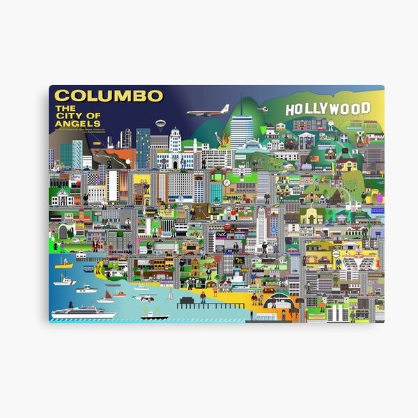 Columbo The City of Angels Metal Print