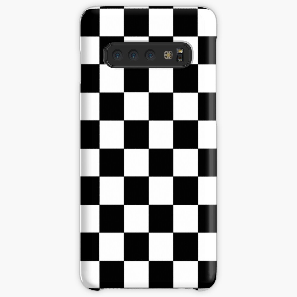 Checkered Black and White Case & Skin for Samsung Galaxy