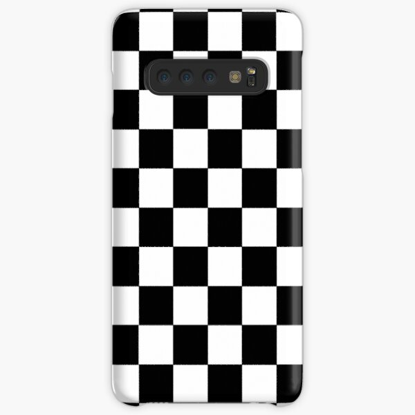 Checkered Black and White Samsung Galaxy Snap Case