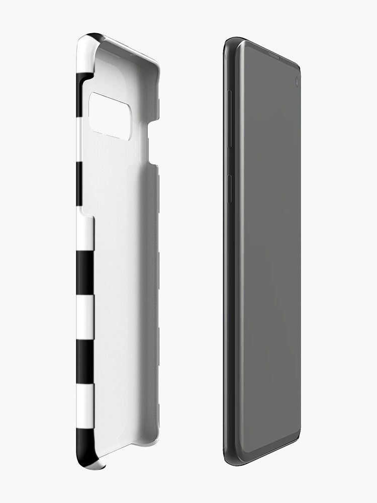 Alternate view of Checkered Black and White Case & Skin for Samsung Galaxy