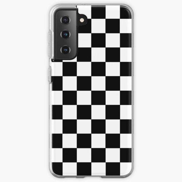 Checkered Black and White Samsung Galaxy Soft Case