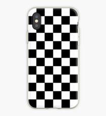 Kariertes Schwarz und Weiß iPhone-Hülle & Cover