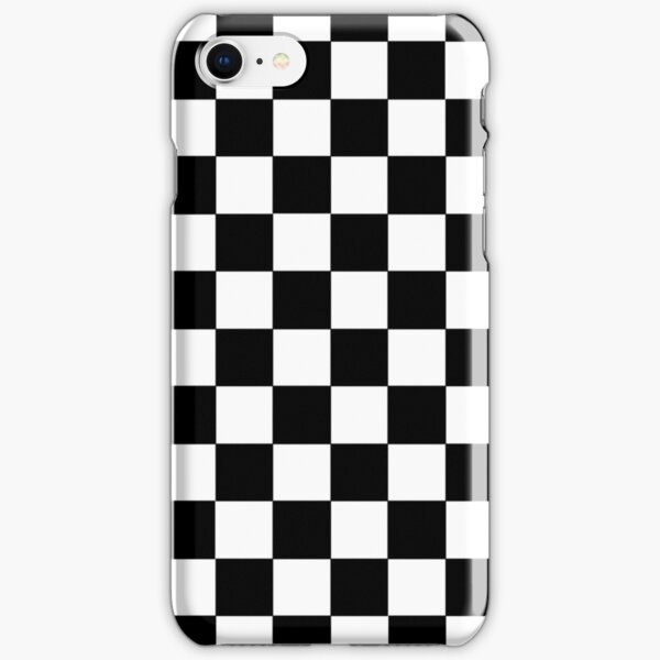 Checkered Black and White iPhone Snap Case