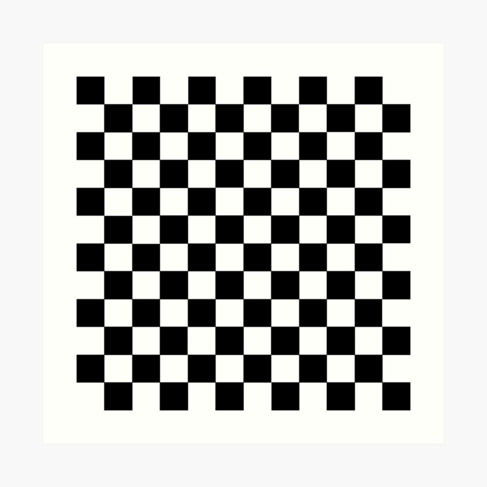 Checkered Black and White Art Print