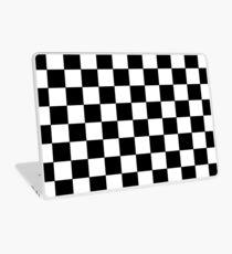 Kariertes Schwarz und Weiß Laptop Folie