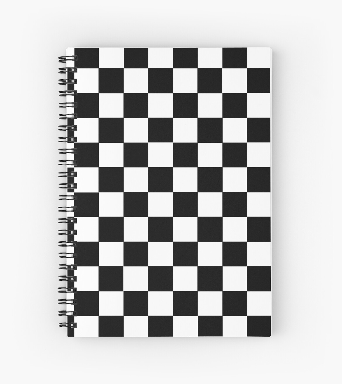 """""""Checkered Black and White"""" Spiral Notebooks by lornakay ..."""