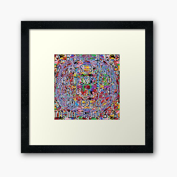Motley chaotic pattern, Chaos, Motley, chaotic, pattern  Framed Art Print