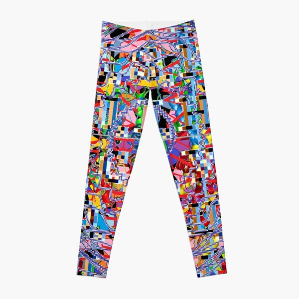 Motley chaotic pattern, Chaos, Motley, chaotic, pattern  Leggings