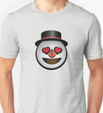 In Love Snowman Emoji  Unisex T-Shirt