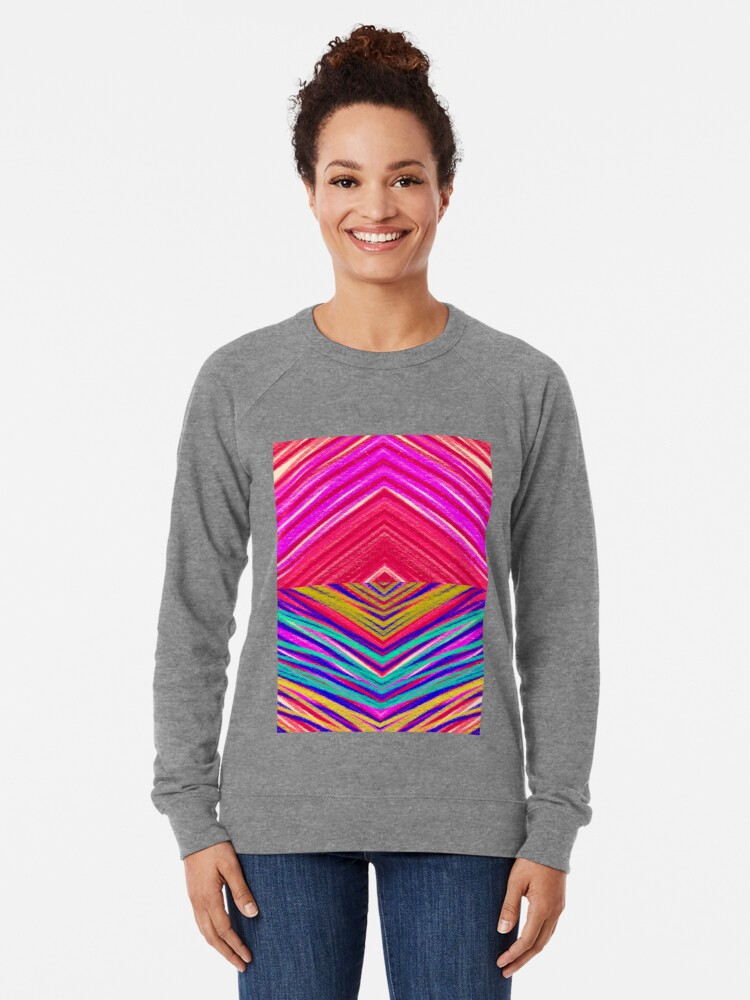 Alternate view of Psychedelic Rainbow Lightweight Sweatshirt