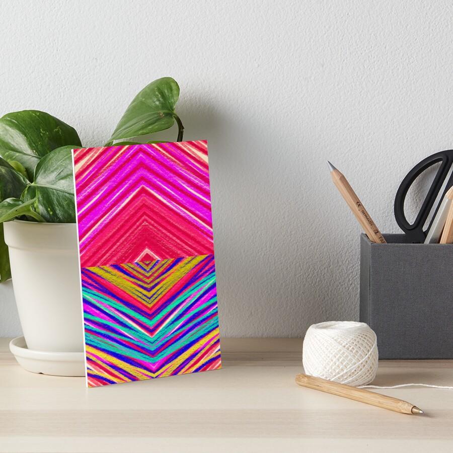 Psychedelic Rainbow Art Board Print