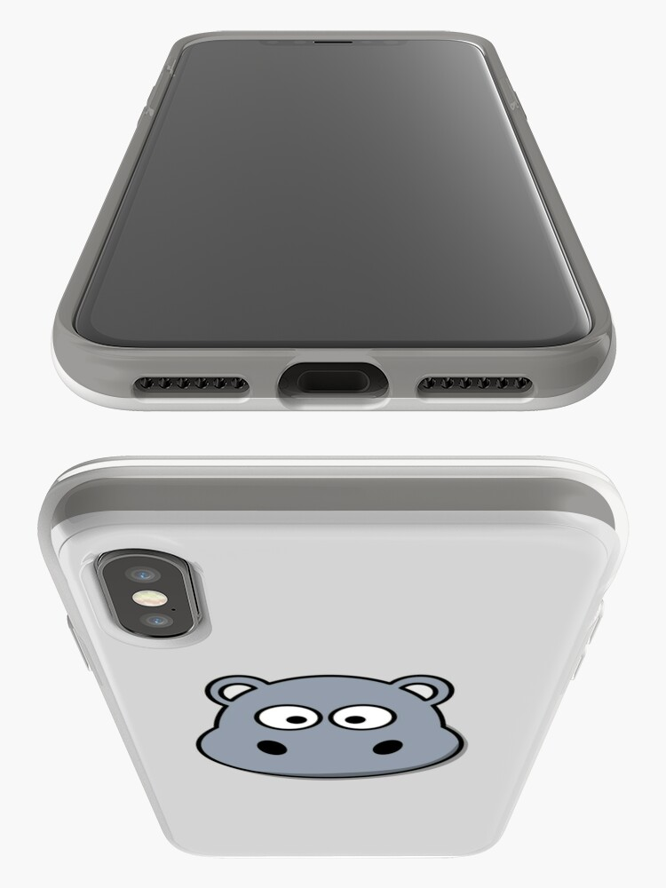 Alternative Ansicht von Cute Hippopotamus Emoji  iPhone-Hülle & Cover
