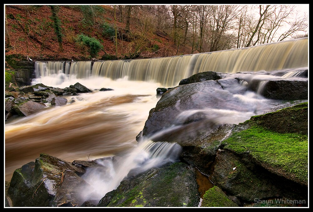 Wier on the river Darwen by Shaun Whiteman