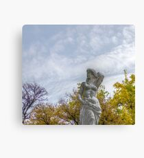 Stone Female Statue  Canvas Print