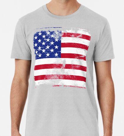 American Flag Used Premium T-Shirt