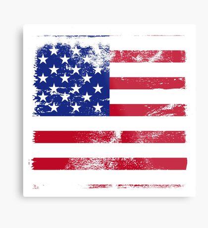American Flag Used Metal Print