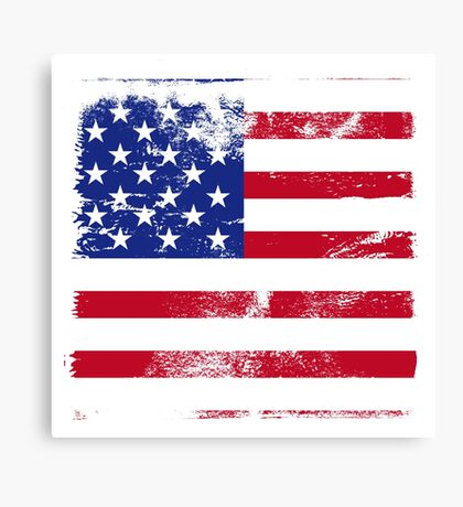 American Flag Used Canvas Print