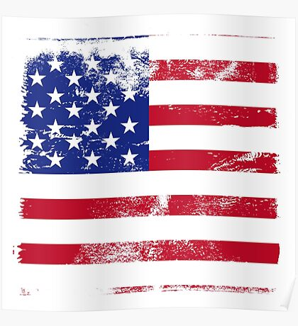 American Flag Used Poster