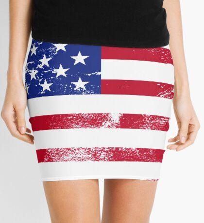 American Flag Used Mini Skirt
