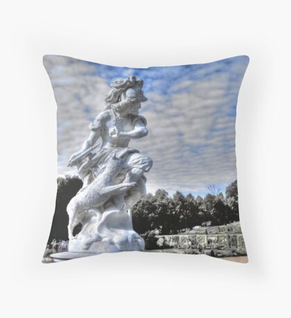 Garden statue at Sanssouci palace In Potzdam Germany Throw Pillow