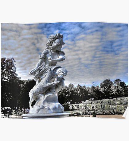 Garden statue at Sanssouci palace In Potzdam Germany Poster