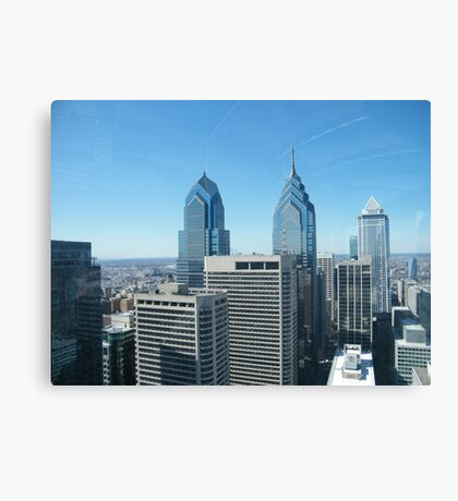 Philadelphia, Aerial View from City Hall Tower Canvas Print