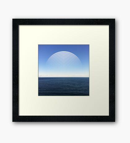 Virtual Moon Framed Print