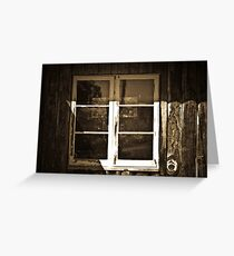 Outback window Greeting Card