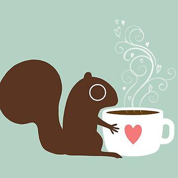 Eichhörnchen liebt Kaffee von ShortCoffee