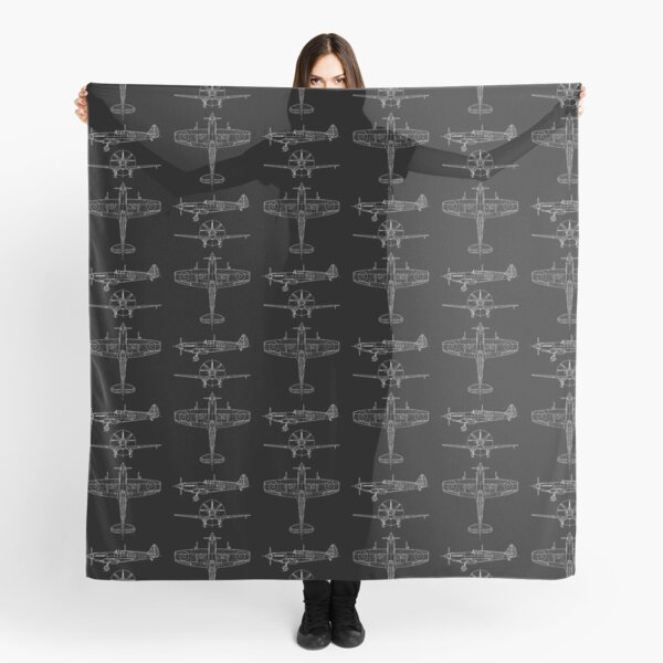 Spitfire aircraft blueprints Scarf