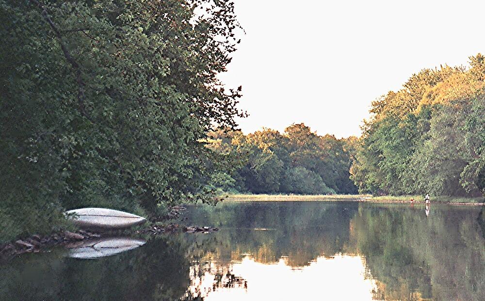 Perkiomen Creek Summer View #1 by drumsandkeys