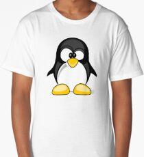 Cross Eyed Silly Cute Penguin Long T-Shirt