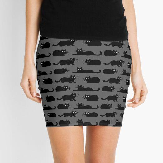 Black Cat(s) Mini Skirt