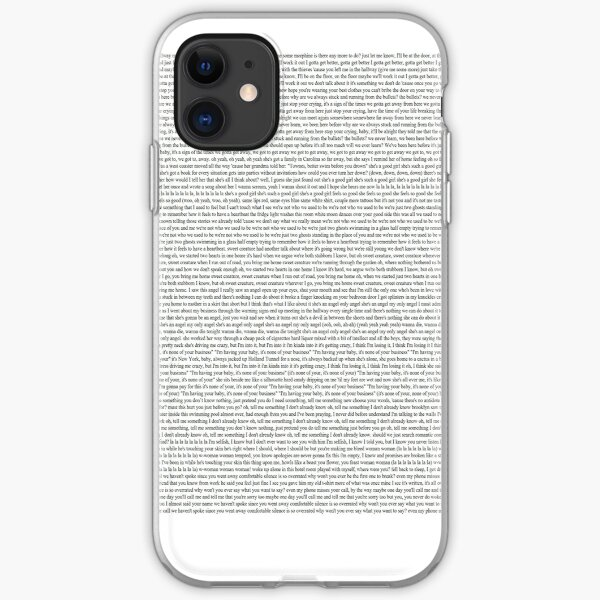 Every Lyric from Harry Styles Album iPhone Soft Case