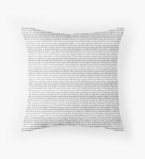 Every Lyric from Harry Styles Album Throw Pillow