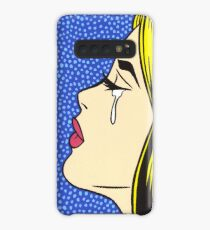 Blonde Crying Comic Girl Case/Skin for Samsung Galaxy