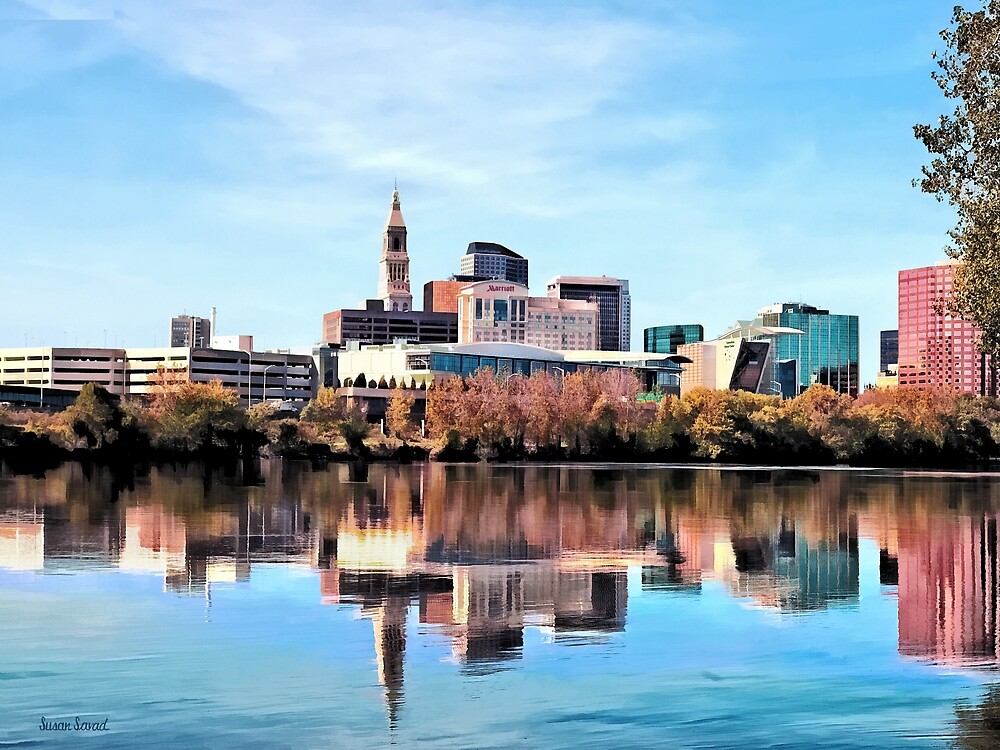 Hartford CT Skyline by Susan Savad