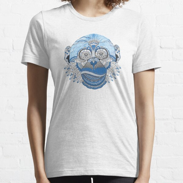 Fancy Blue Tribal Monkey Essential T-Shirt