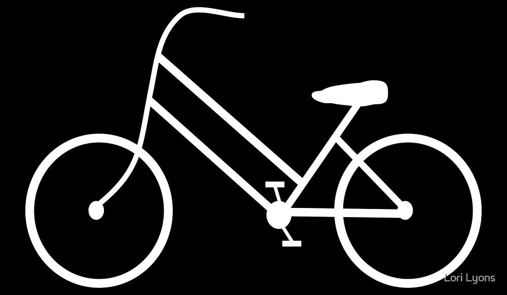 Women's Bicycle in White by Lori Lyons