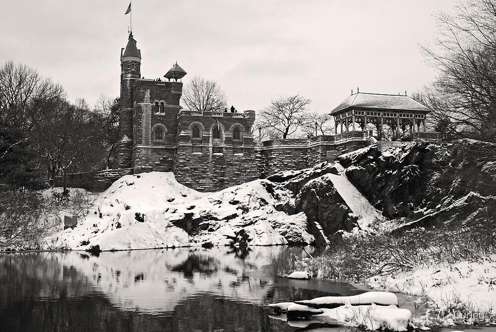 Bellevede Castle in Winter by Curley