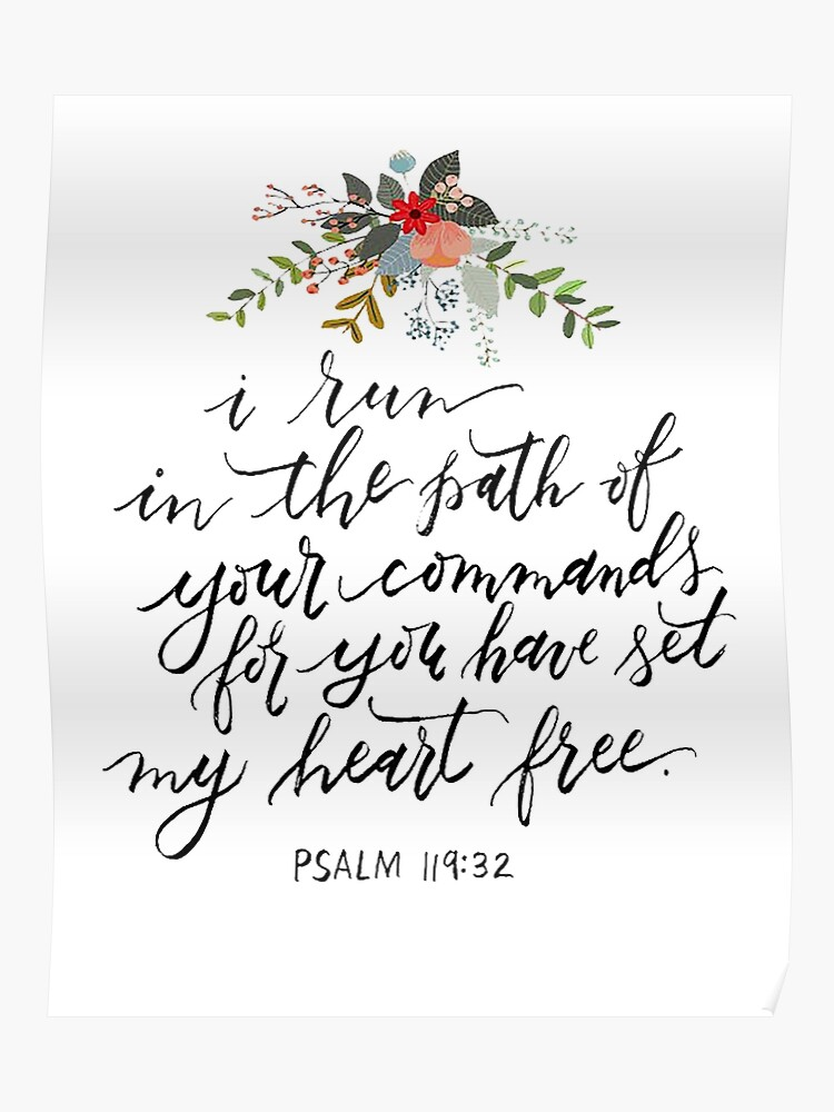 Psalm 119:32 | Poster