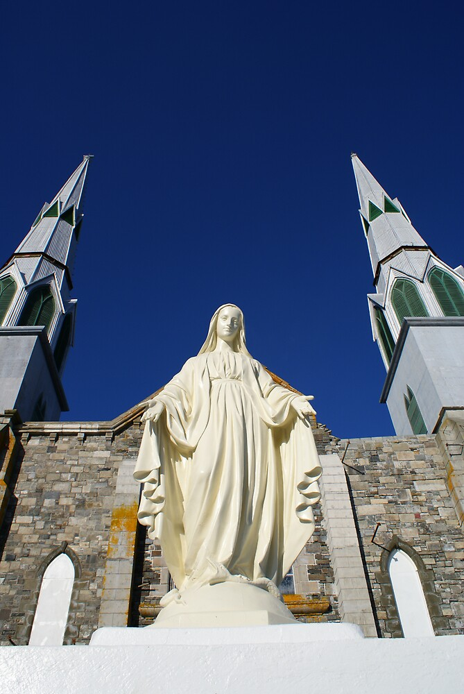 Statue of Blessed Virgin Mary at Immaculate Conception Church - Hr.Grace,NL. by Cyril S. Shugarue Jr.
